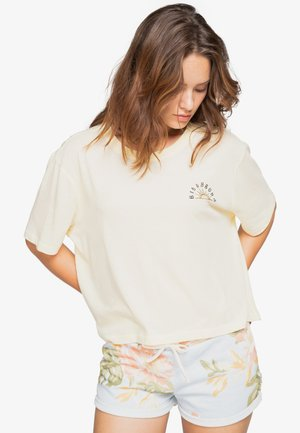 FEELING FREE  - Print T-shirt - light honey