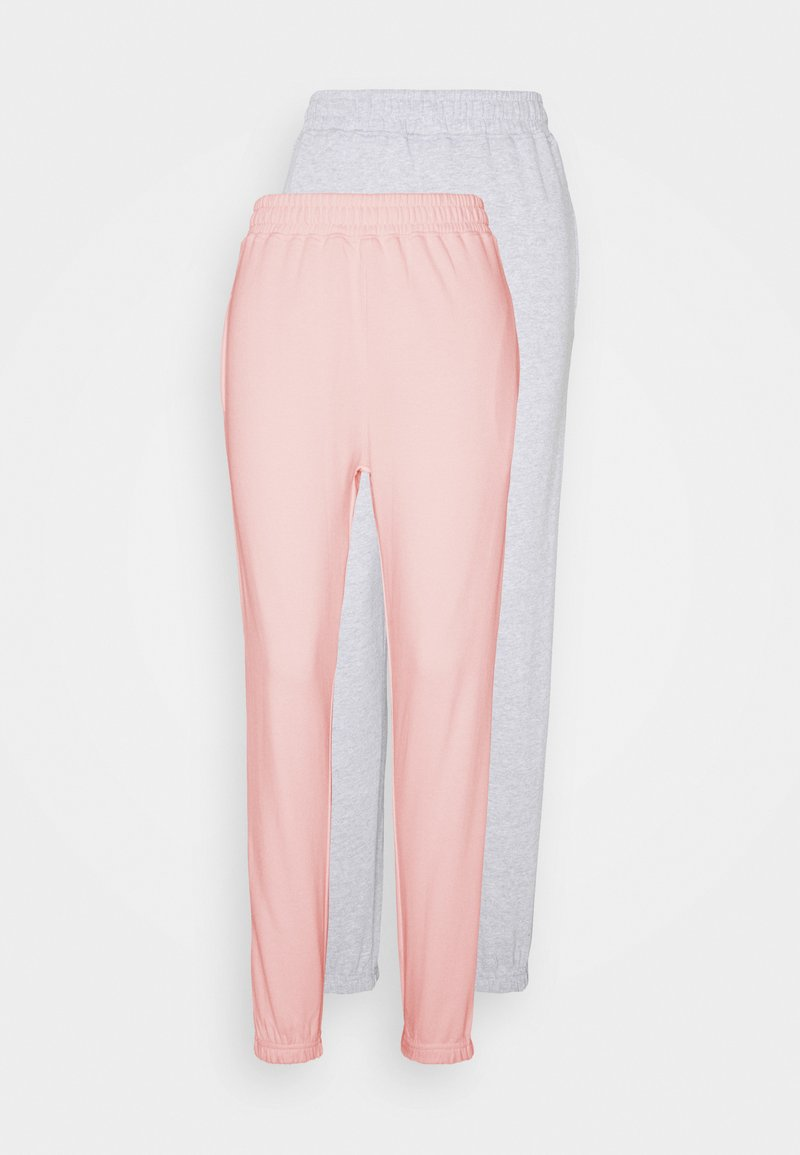 Missguided - BASIC JOGGERS 2 PACK - Tracksuit bottoms - pink/grey