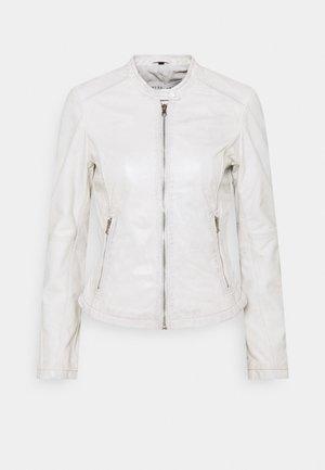 EMELLIE - Kožená bunda - plaster white