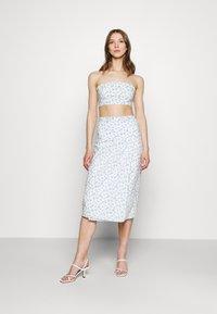 Fashion Union - PIGNA SKIRT - A-line skirt - retro ditsy print - 1
