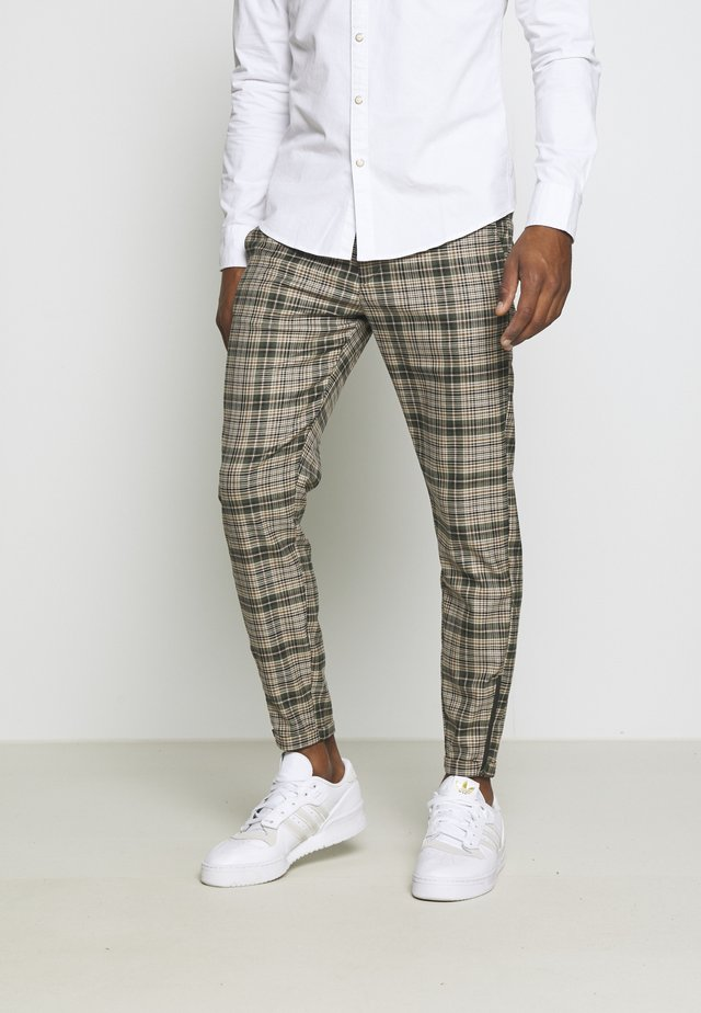 PISA CHECK PANT - Chinos - green