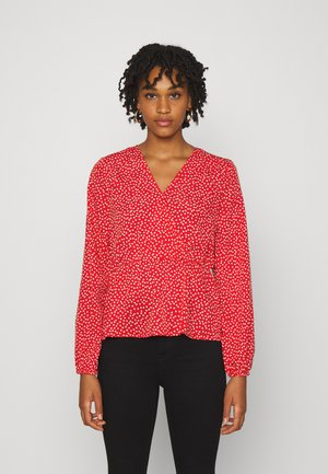 ONLSWEETHEART - Blouse - high risk red/cloud dancer