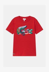 Lacoste - T-shirt imprimé - rouge/multico - 0
