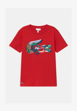 Print T-shirt - rouge/multico