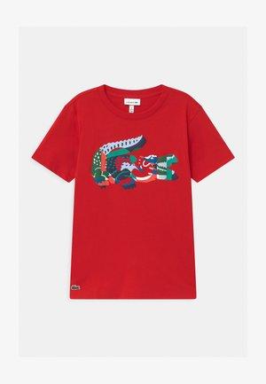 T-shirt imprimé - rouge/multico