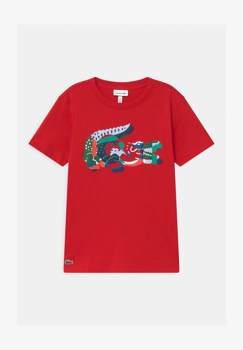 Lacoste - T-shirt imprimé - rouge/multico