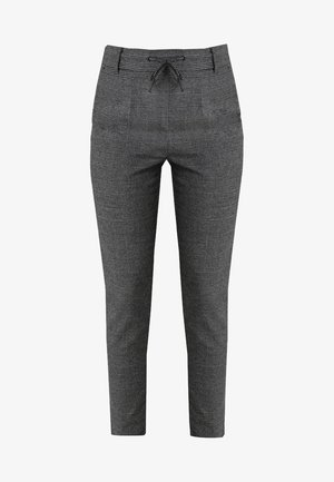 ONLPOPTRASH SOFT CHECK PANT - Pantalon classique - black/cloud dancer