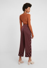 Marella - VALIKA - Trousers - bordeaux
