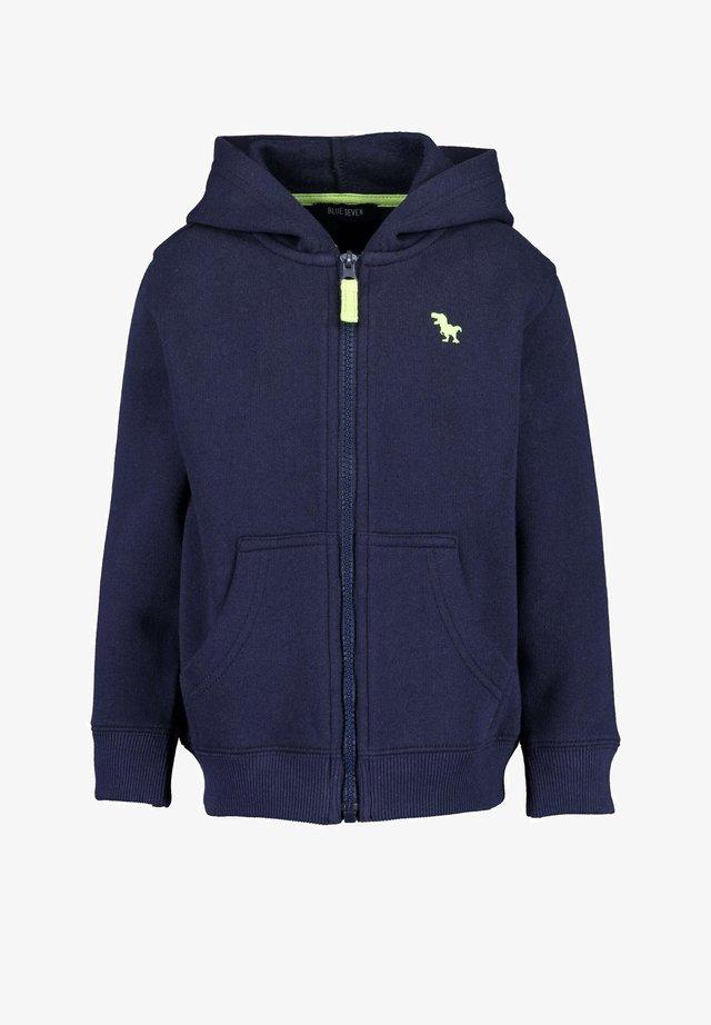 MIT KAPUZE BASICS - Sweater met rits - dark blue