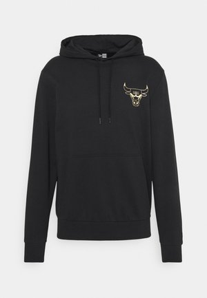 NBA CHICAGO BULLS NEW ERA METALLIC HOODY - Squadra - black