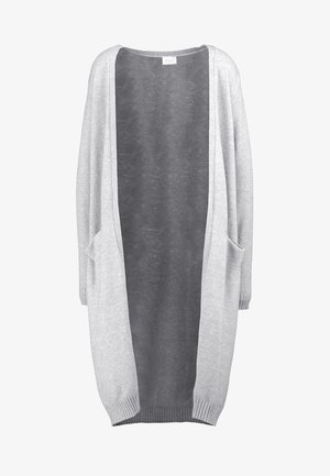 VIRIL LONG CARDIGAN - Neuletakki - light grey melange