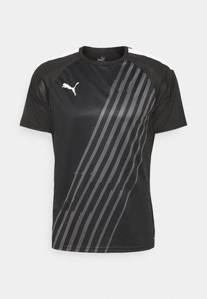 INDIVIDUAL PACER - Print T-shirt - puma black/puma white