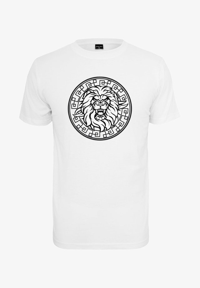 HERREN LION FACE TEE - T-shirts print - white