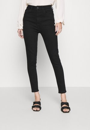HIGH WAIST SKINNY JEANS - Jeans Skinny Fit - black