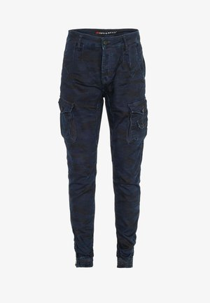 Cargo trousers - bluecamouflage