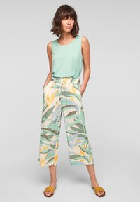 s.Oliver - Trousers - ocean green aop - 1