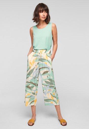 Trousers - ocean green aop