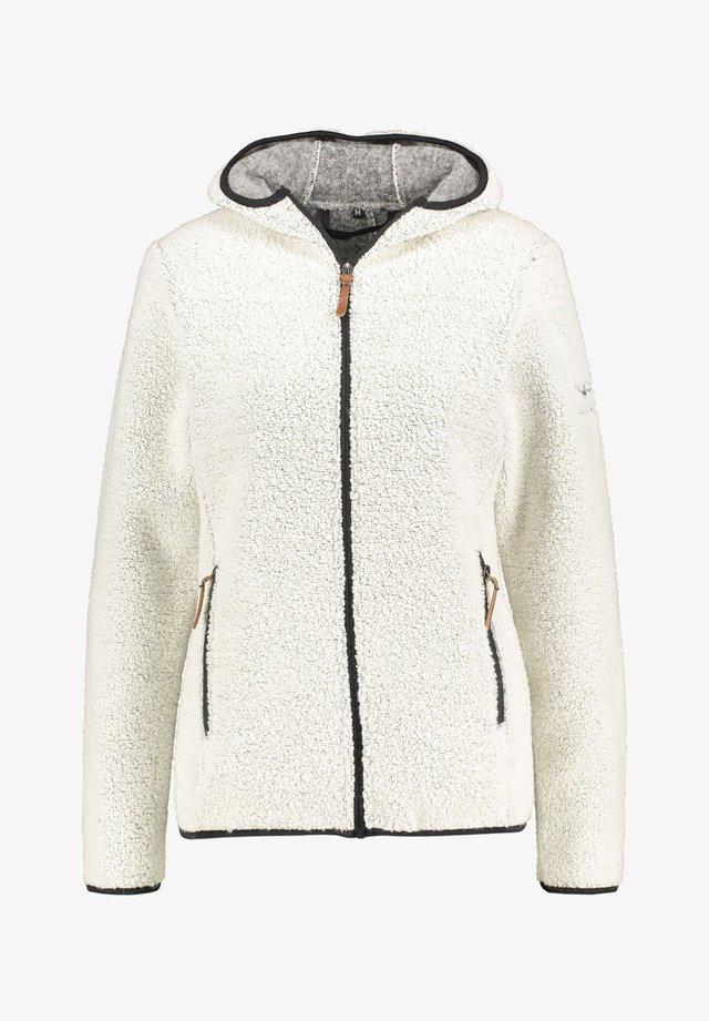 "MIT KAPUZE ""KOTKA"" - Fleece jacket - beige"