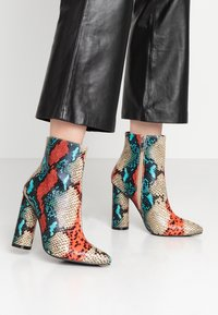 BEBO - SONIA - Classic ankle boots - red/multicolor - 0