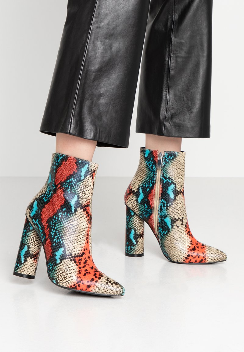 BEBO - SONIA - Classic ankle boots - red/multicolor