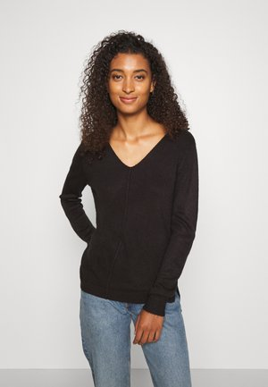 BYMALEA V NECK JUMPER - Jumper - black