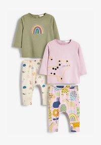 Next - 4 PIECE CHARACTER T-SHIRT AND LEGGINGS - Pyjamas - pink - 0