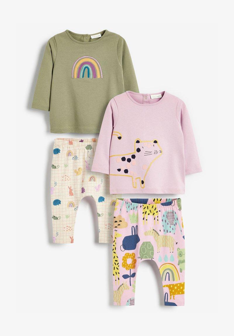 Next - 4 PIECE CHARACTER T-SHIRT AND LEGGINGS - Pyjamas - pink