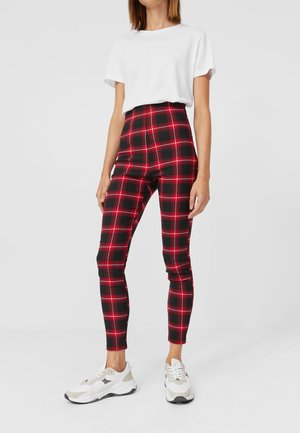 MIT SCHOTTENKAROS  - Leggings - red