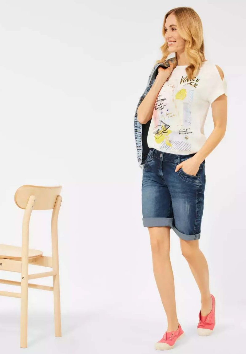 Cecil - Denim shorts - m blue denim