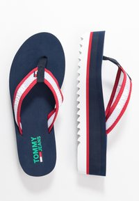Tommy Jeans - RECYCLED MID BEACH SANDAL - Flip Flops - twilight navy - 3