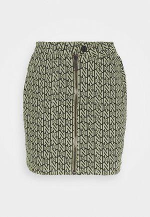 LOGO SKIRT - Mini skirt - night forest