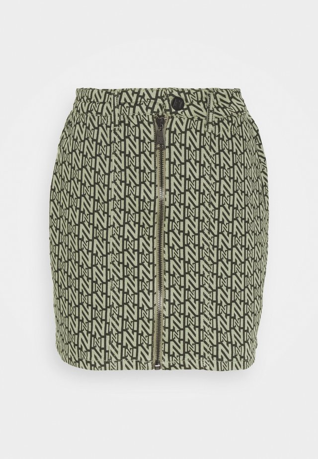 LOGO SKIRT - Mini skirt - night forest