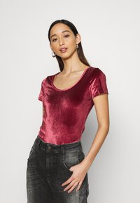 Hollister Co. - SCOOP BODYSUIT - Basic T-shirt - burgundy - 3
