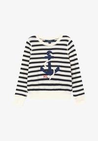 Polo Ralph Lauren - STRIPE TERRY - Mikina - clubhouse cream/hunter navy - 2