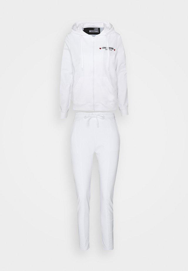 SET - Hoodie met rits - optical white