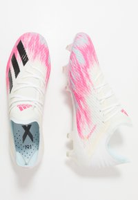 adidas Performance - X 19.1 FG - Kopačky lisovky - footwear white/core black/shock pink - 1