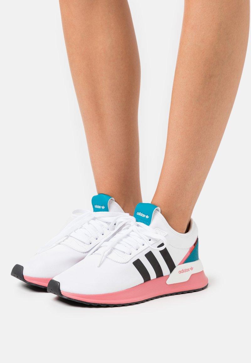 adidas Originals - U_PATH X - Matalavartiset tennarit - footwear white/core black/hazy rose