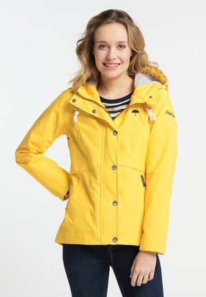 Outdoor jacket - mottled yellow