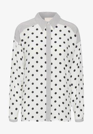 Button-down blouse - black white dot