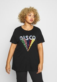 Simply Be - SEQUIN EMBELLISHED MOTIF - T-shirts print - black - 0