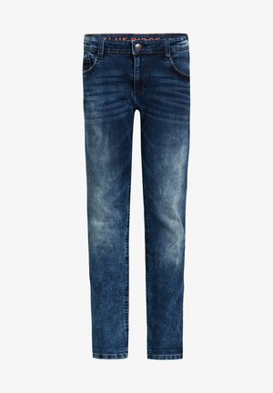 REGULAR FIT SELVEDGE JEANS - Slim fit jeans - dark blue