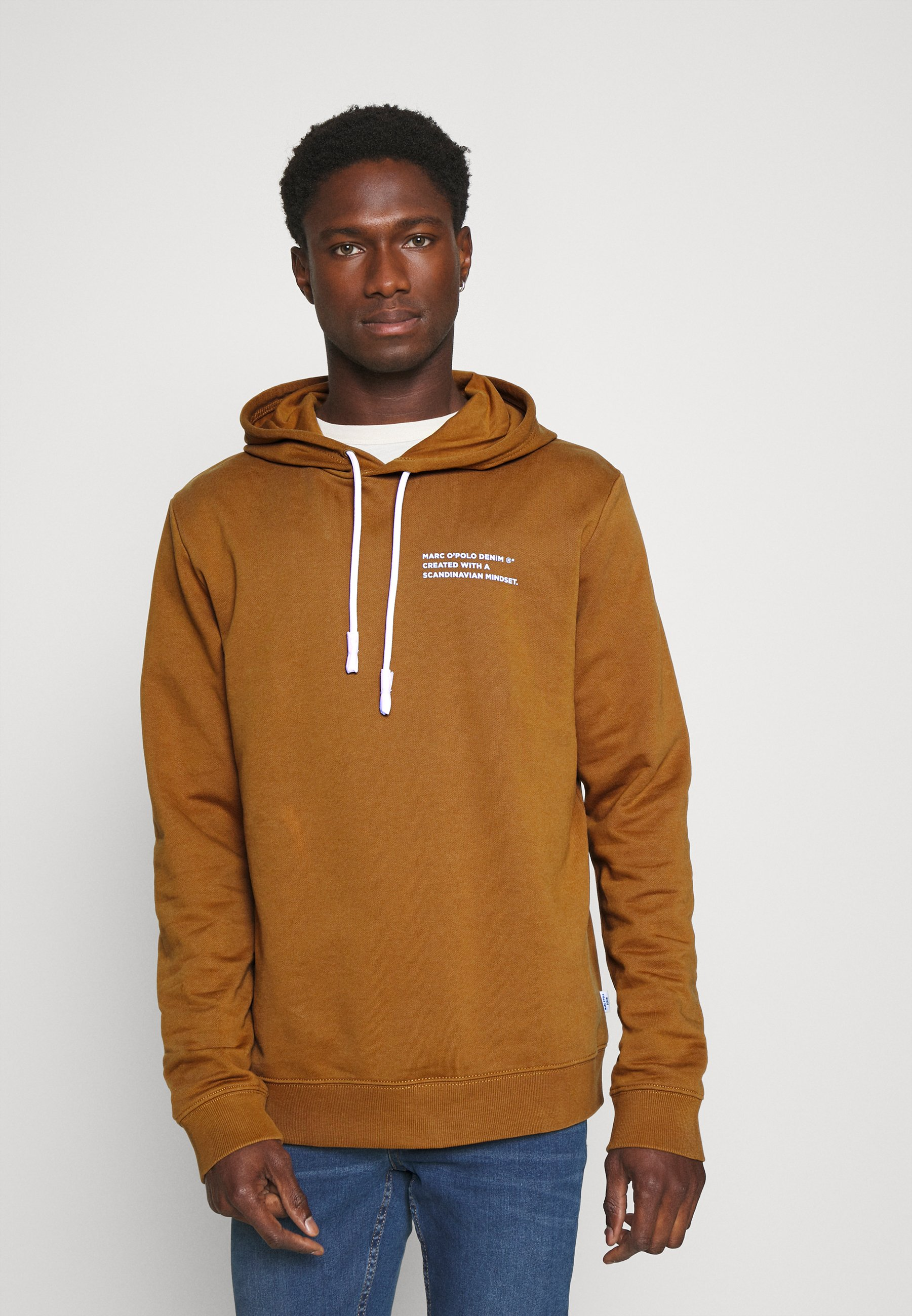 Homme LONG SLEEVE HOOD TEXT LOGO RELAXED FIT - Sweat à capuche