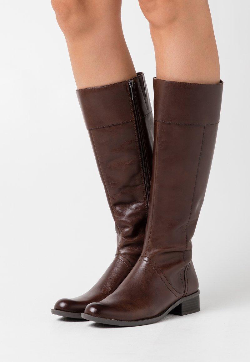 Caprice - BOOTS - Kozaki - dark brown
