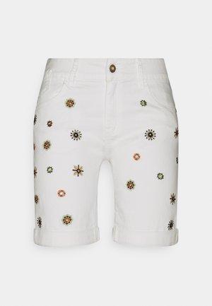 DENIM_GRECIA - Jeansshorts - white
