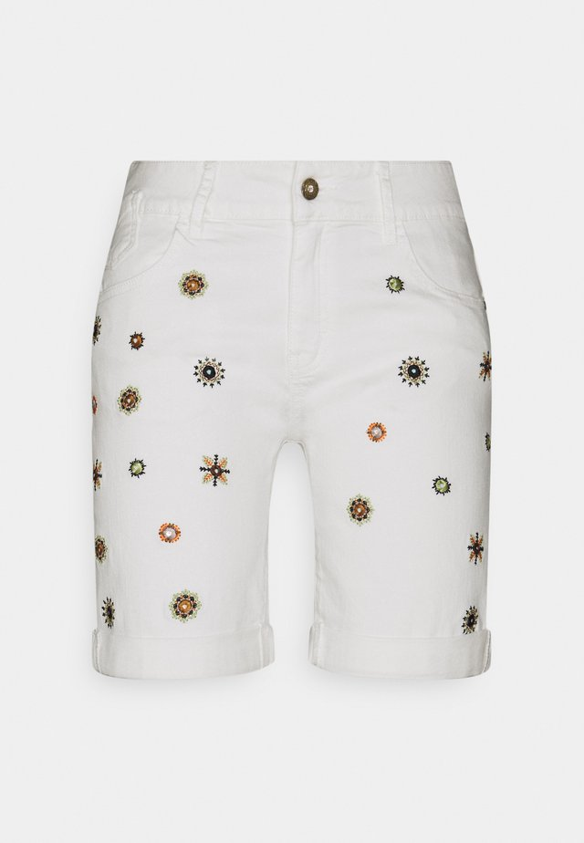 DENIM_GRECIA - Shorts di jeans - white