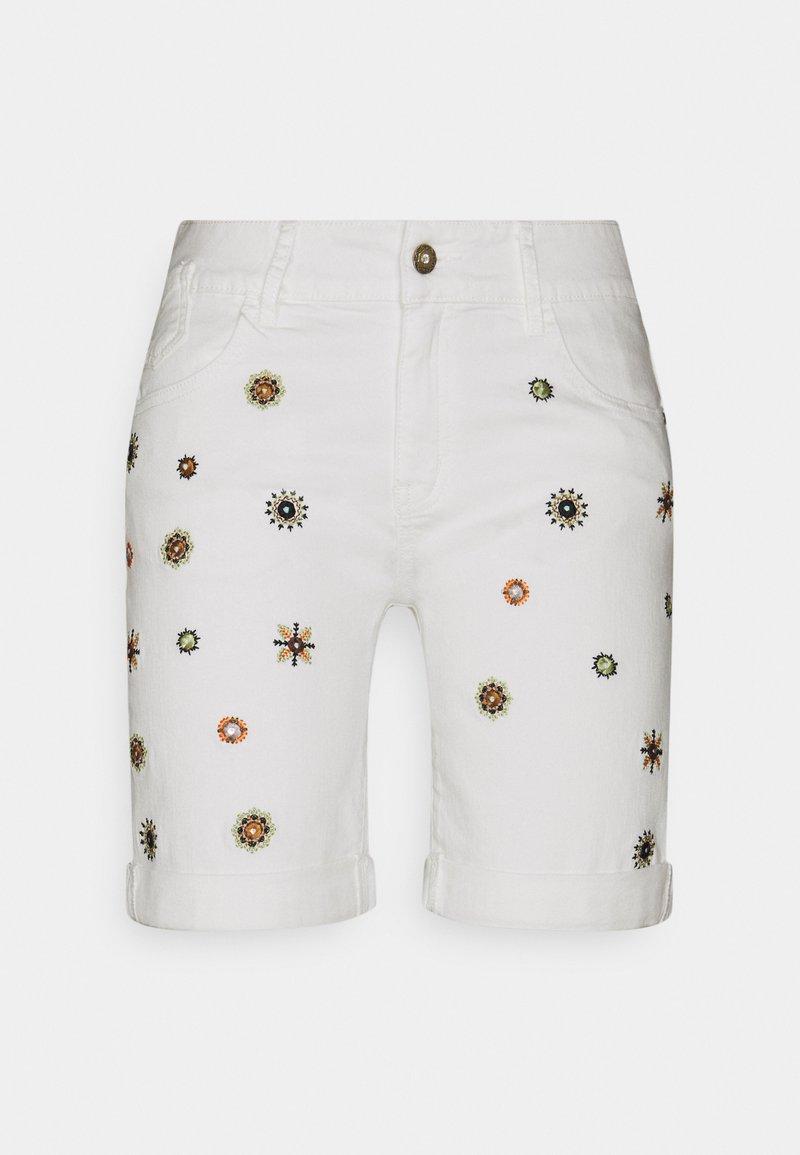 Desigual - DENIM_GRECIA - Denim shorts - white