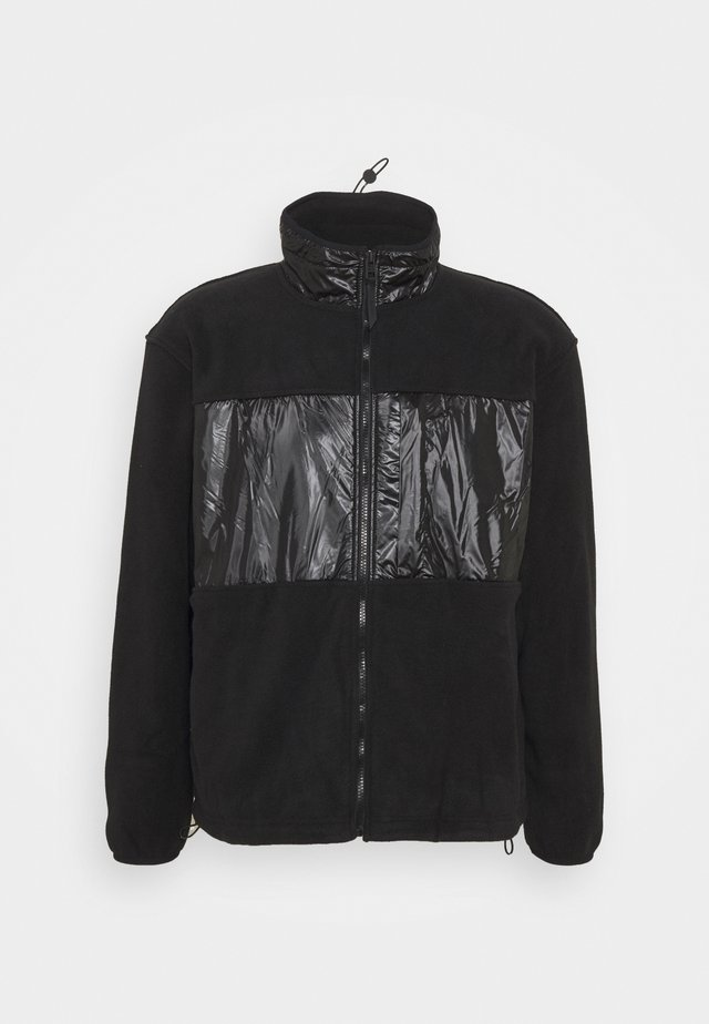 JACKET UNISEX - Fleece jacket - black