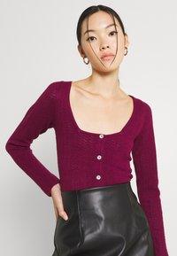Fashion Union - ELISHA - Cardigan - burgundy - 3