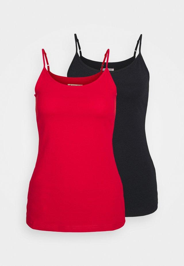 2 PACK - Toppi - black/red