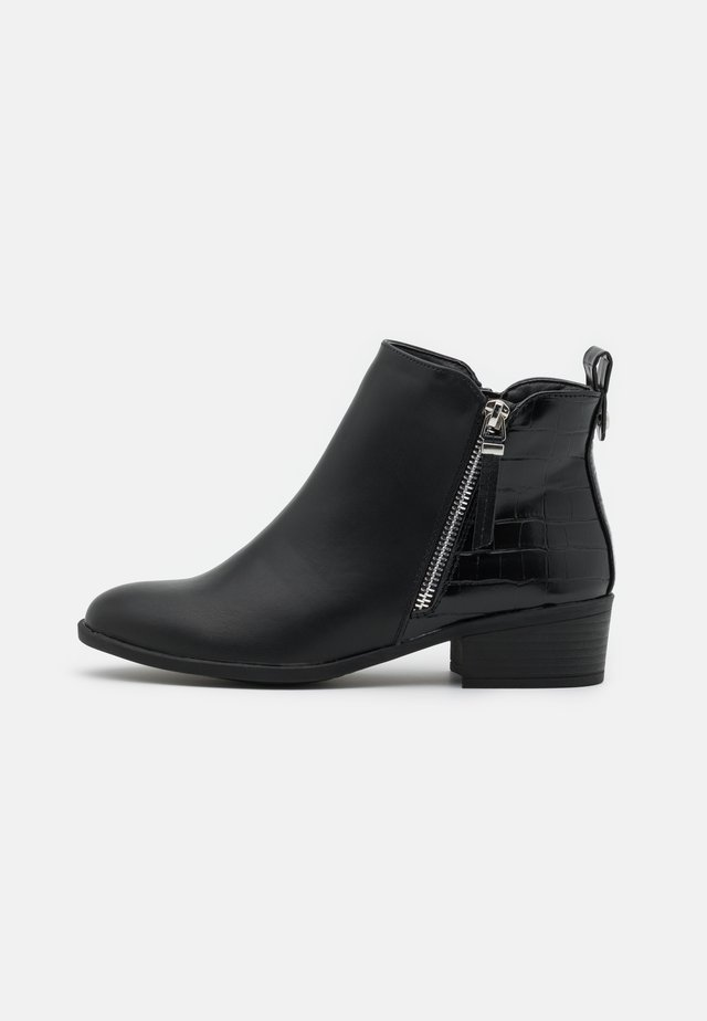 MACRO SIDE ZIP BOOT - Boots à talons - black